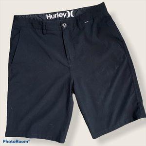 Hurley hybrid black flat front shorts